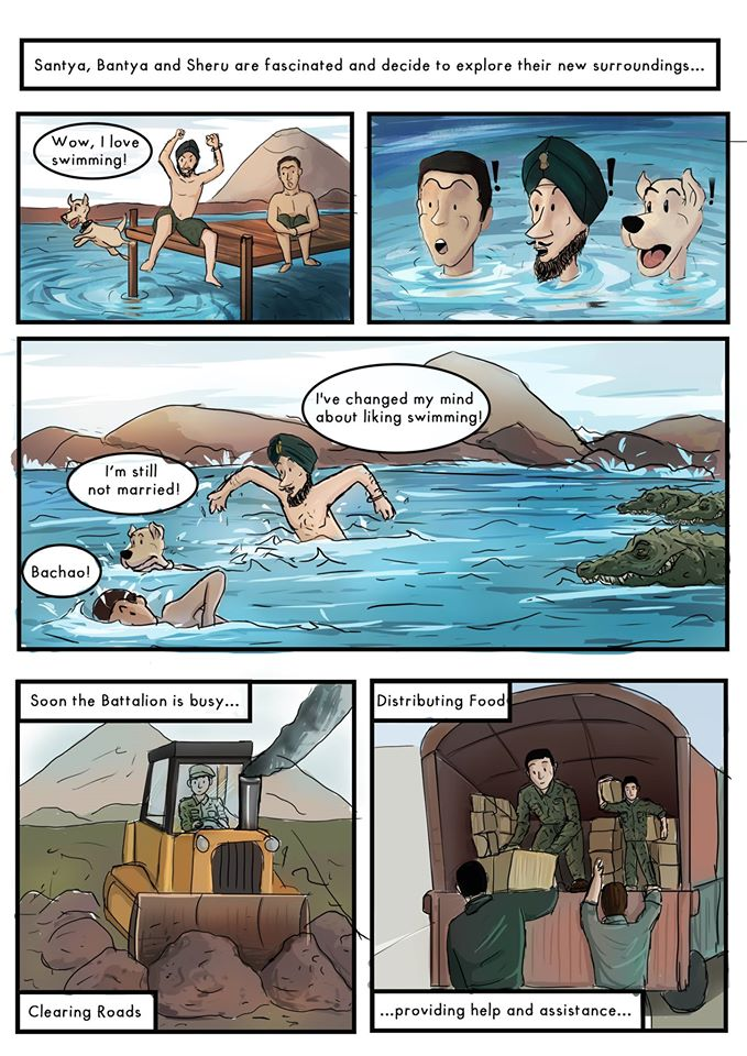 Comics on soldiers of the Indian Army
